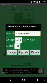 earth42 Golf Handicap Calculator