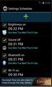 Settings Scheduler
