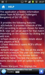 RCB : IPL 2012