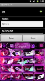 GO Keyboard Pink Flame Theme