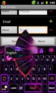GO Keyboard Purple Flame Theme