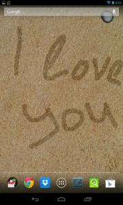 Writing on sand LWP