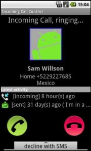 Incoming Call Control