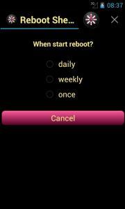 Reboot Shedule