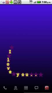Colorful Words Live Wallpaper v1.0