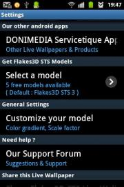 Flakes3D STS Live Wallpaper FREE