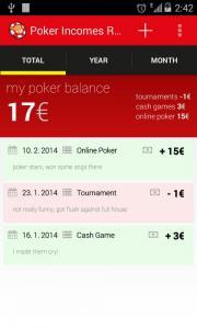 Poker Incomes Reports