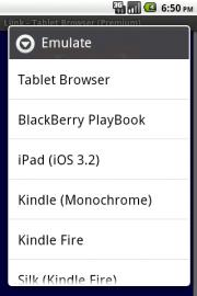 Tablet Browser