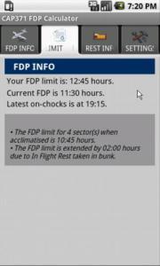 CAP371 FDP Calculator