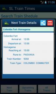 SriLanka Train Times