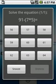 Math Alarm Clock