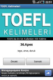 TOEFL Kelimeleri