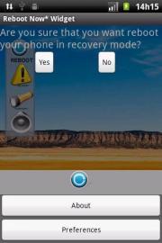 Reboot Now* Widget