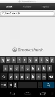 GrooveShark application