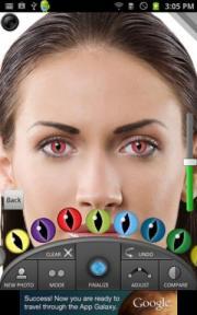 دانلود نرم افزار تغییر رنگ چشم و لنز رنگی برای اندروید