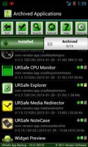 URSafe App Backup/Restore
