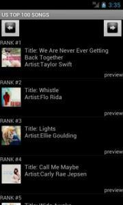 US TOP 100 SONGS