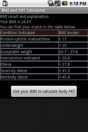 BMI and FAT Calculator