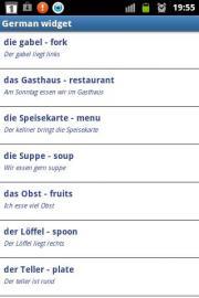 German widget