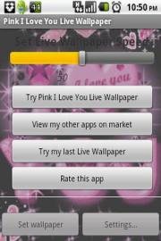 Pink I Love You Live Wallpaper