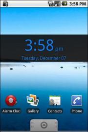 Blue Digital Clock