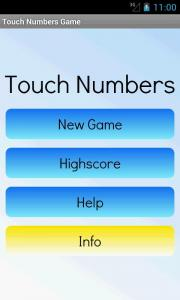 Touch Numbers Game