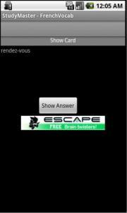 StudyMaster - FrenchVocab