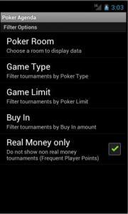Poker Agenda