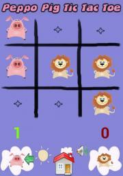 Peppo Pig Tic Tac Toe