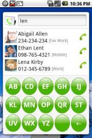 Contact Widget ABC Dialer