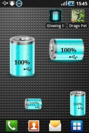 Glowing Battery Widget