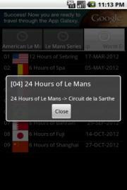 Unofficial Le Mans Schedule 2012