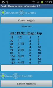 Cooks Measurements Converter 1.0
