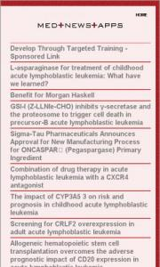Acute Lymphoblastic Leukemia News