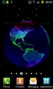 Earth At Night 3D Live Wallpaper
