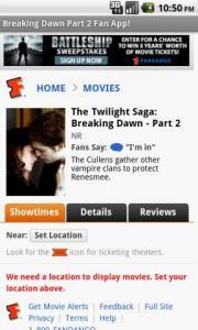 Breaking Dawn Part 2 Fan App
