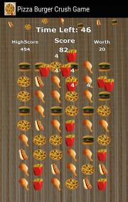 Pizza Burger Crush Game