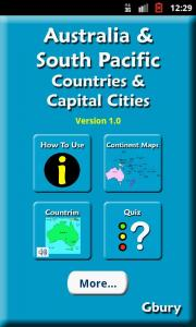 Learn Australia And South Pacific Countries And Capital Cities