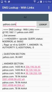 DNS Lookup - With Links