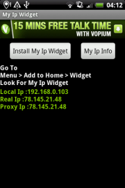 My Ip Widget