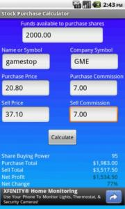 Stock Purchase Calculator