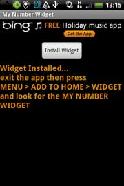 My Number Widget