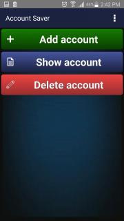Account saver Free