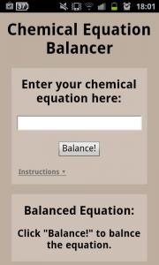 Chemical Equation Balancer