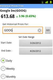 Historical Prices Free